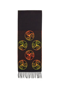 Scarf with Celtic Triskele Motif