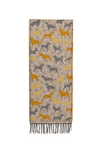 Scarf with Dog Motif