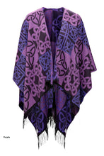 Shawl with Fringe and Celtic Motif
