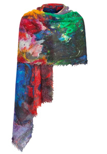 Stole in Polychromatic Digital Print