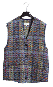Lady Gilet in Blue/Green Donegal Tweed