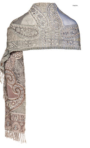 Stole in Paisley Motif with Beading Detail