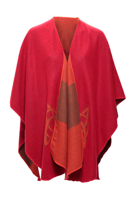 Shawl in Red with Celtic Motif