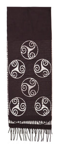 Scarf With Triskele Motif