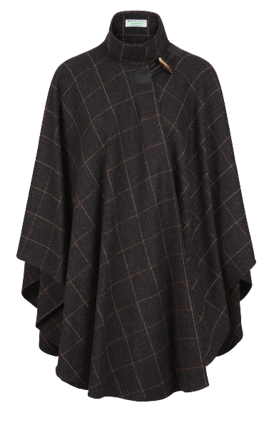 Cape in Charcoal Grey with Toggle Fastening