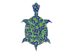 Blue Poppy Long Life Turtle Notecard