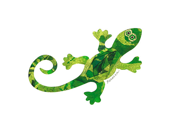 Green Gecko Notecard