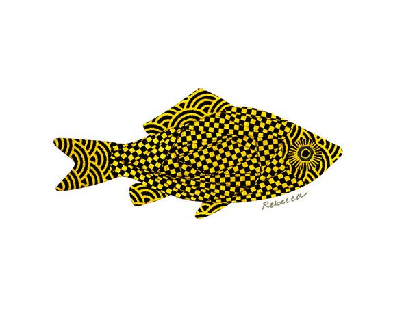 Japanese Checkered Fish Notecard