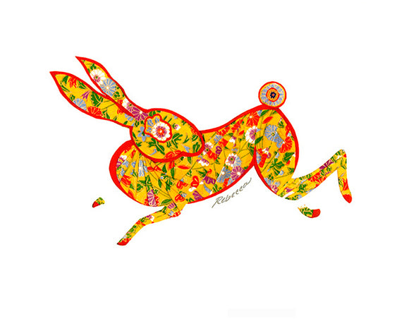 Leaping Hare Notecard