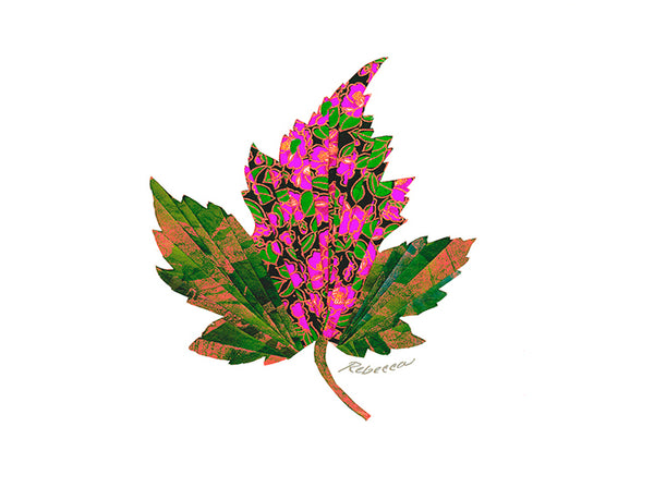 Magenta Maple Notecard