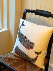 Lipstick Pebbled Whale Pillow