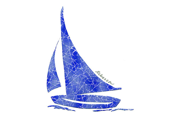 Royal Blue Nike Sailboat Notecard