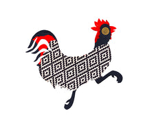 Running Rooster Notecard