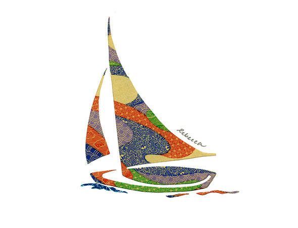 Swirling Winds Sailboat Notecard