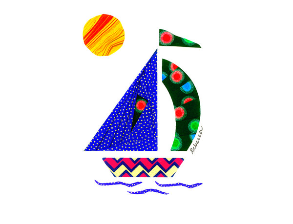 Whimsy Sailboat Notecard