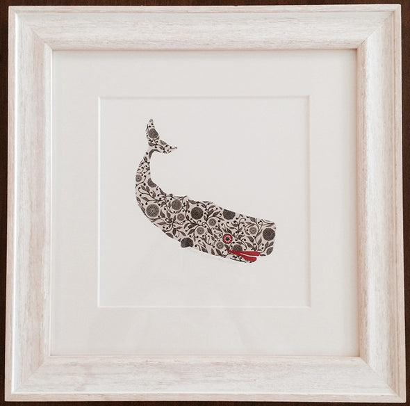 Floral Whale Framed Print