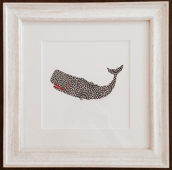 Pebbled Whale Framed Print