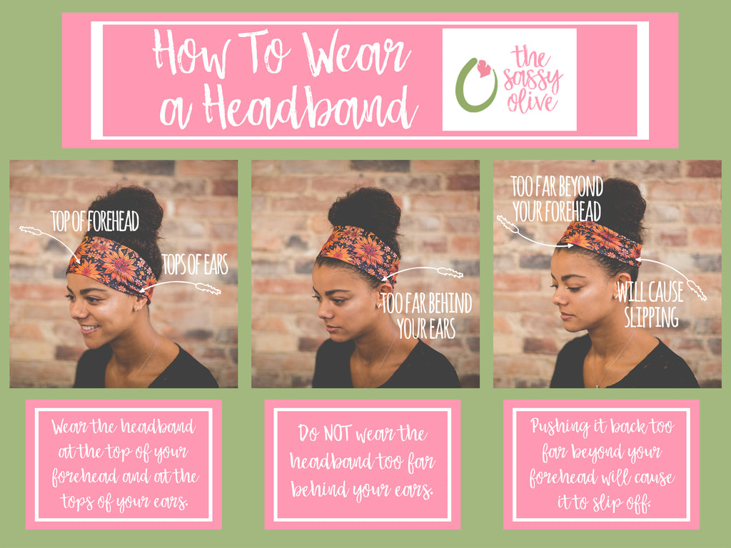 How To Wear A Headband – The Sassy Olive Shop f40bd1ad9cd