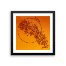 Jupiter Framed Microprint (10x10/12x12)