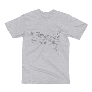Tweezer 7/31/13 Gray Unisex / Men's Short Sleeve USA T-Shirt