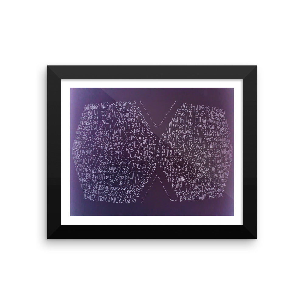 Get Up With It Framed Microprint (8x10)