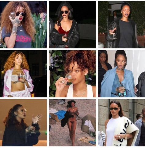Rihanna has made Wine an accessory and I am living for it! & A Thread: The Signs as Rihanna Drinking in Public