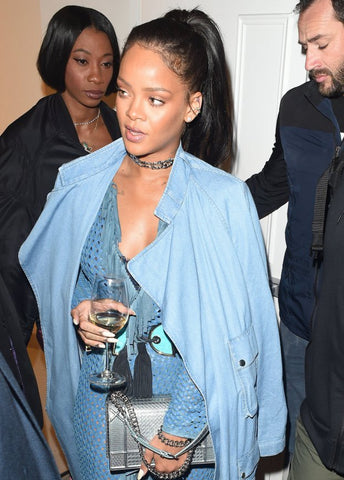 capricorn rihanna blue denim wind glass public drink