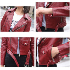 Bright or Black Faux Leather Jacket