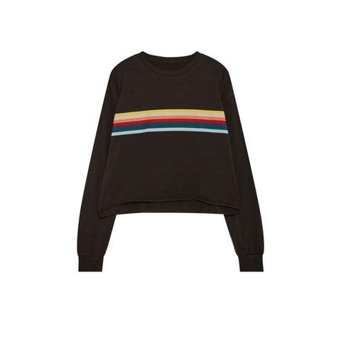 Rainbow Love Long Sleeve Crop Tee (Multiple Colors)