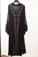 Vintage Embroiered High Low Maxi Dress