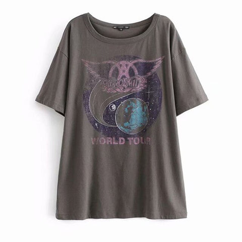 Aerosmith World Tour Oversized Tee