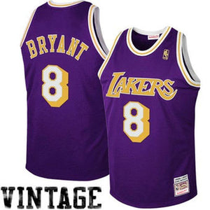 Mitchell & Ness Los Angeles Lakers #8 Kobe Bryant Purple 1997 Authentic Hardwood Classics Road Jersey - Van & Stuyvesant