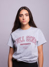 FULL SEND University T-Shirt Heather Grey