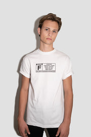 WHITE FULLSEND PARENTAL ADVISORY TEE