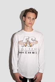WHITE FULLSEND INTL SENDERS CLUB LONG SLEEVE TEE