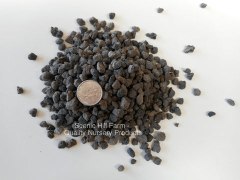"3/8"" - 1/4"" Black Lava for Bonsai Soil, Succulents, Cactus & Soil Mixes"