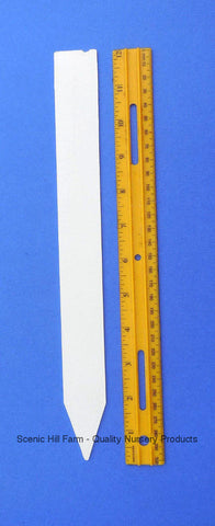 "Molded Plastic Field /Garden/ Plant Stakes -Made in USA -12"" X 1.25"" -Heavy Duty"