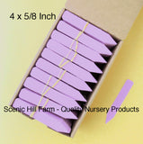 "Lavender Plastic Plant Stakes Labels Nursery Tags Made in USA - 4"" X 5/8"""