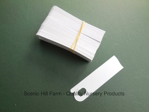 25 - 5,000 Push On White Plastic Tags/ Plant Labels - 3 3/4