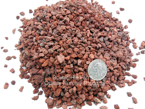 "1/4"" - 1/32"" Red Lava for Bonsai Soil, Succulents, Cactus & Soil Mixes"