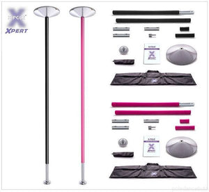 X-POLE XPERT Set -  Powder Coated Black / Pink - [Spinning & Static]