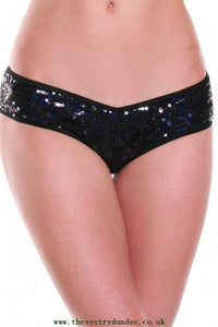 Black Sequin Sexy Panty Black - Clubwear