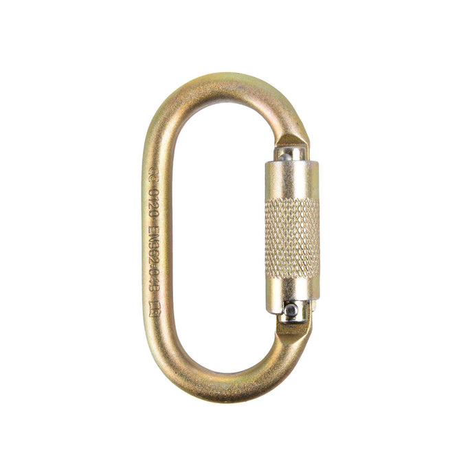 Auto-Locking Oval Carabiner