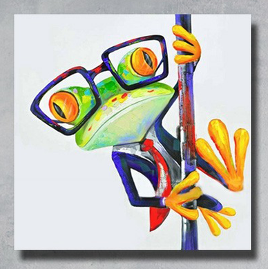 100% Hand-Painted Pole Dancing Frog