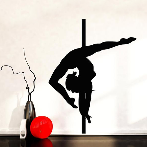 pole dancing wall sticker