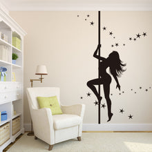 Pole Dancing With Stars Wall Sticker