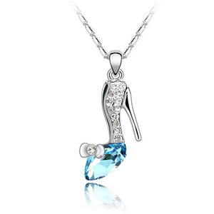 Crystal High Heel Necklace