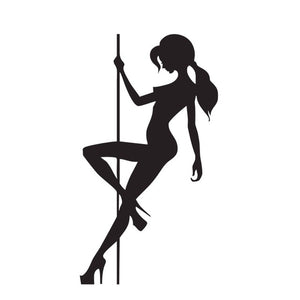 Pole Dancing Girl Vinyl Sticker