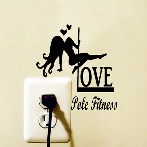 Love Pole Fitness Switch Sticker
