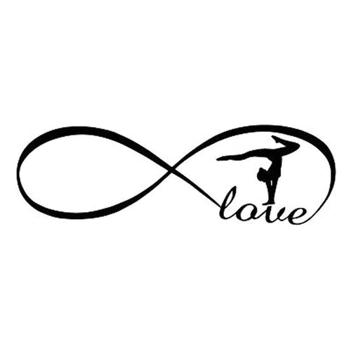 Infinity Love Gymnastics Sticker for car